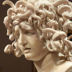 cabeza de medusa, Bernini