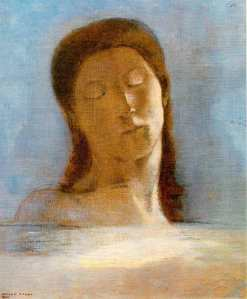odilon-redon-775v-los-ojos-cerrados-1890-sapnisharts-com